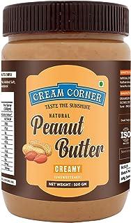 Cream Corn Peanut Butter Combo Creamy + Crunchy ( Non-GMO, Gluten Free, Vegan)(500g + 500g) 1 kg