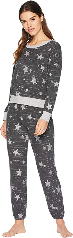 Brushed Jersey Long Sleeve PJ Set