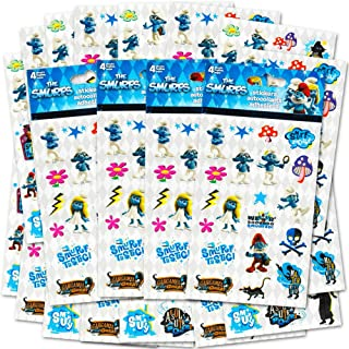 Smurfs Stickers Party Favors Pack -- 296 Stickers Total (16 Sticker Sheets, Smurf Party Supplies)