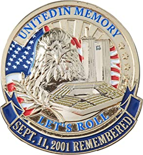 EagleEmblems P62623 PIN-USA,911,Let's ROLL (1'')