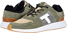 Lichen Green Shaggy Suede/Nubuck Leather Mix