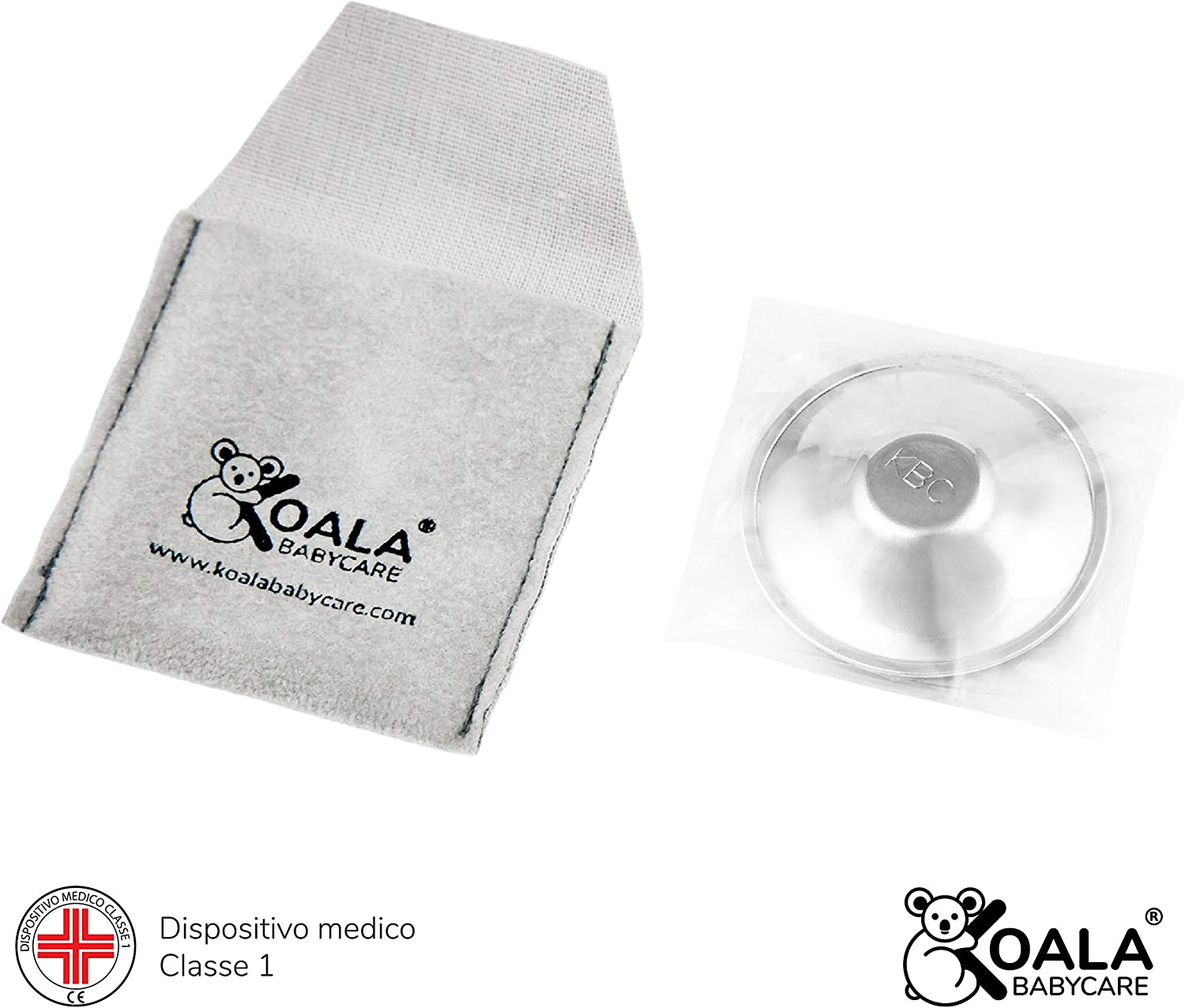 Koala Babycare Nipple Cups in 100/% Silver Medical Device Class 1 Koala Silver Cup Maxi Nickel Free for The Prevention and Treatment of Breast fissures During Breastfeeding