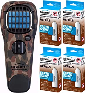 Thermacell MR-FJ Mosquito/Flying Insect Repeller, Woodlands Camo, 4 Earth Scent Refill Packs
