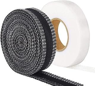 強力裾上げテープ&接着芯テープ ダブル使用で超強力10mセット 2021年最新改良 裾上げアイロンテープ ズボン裾直しテープ 超ロングタイプ アイロン接着裾上げテープ 粘着力拔群 布用両面テープ 洗濯可能 スカート カーテン用 すそ上げテープ ...