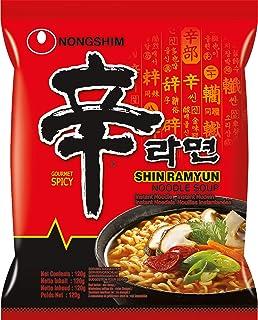 Nong Shim Instant Noodles Shin Ramyun - Paquete de 20 x 120 gr - Total: 2400 gr