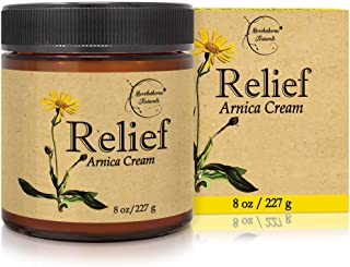 Relief Arnica Cream – Enriched with Lemongrass, Eucalyptus & Rosemary Essential Oils – All Natural Massage ...