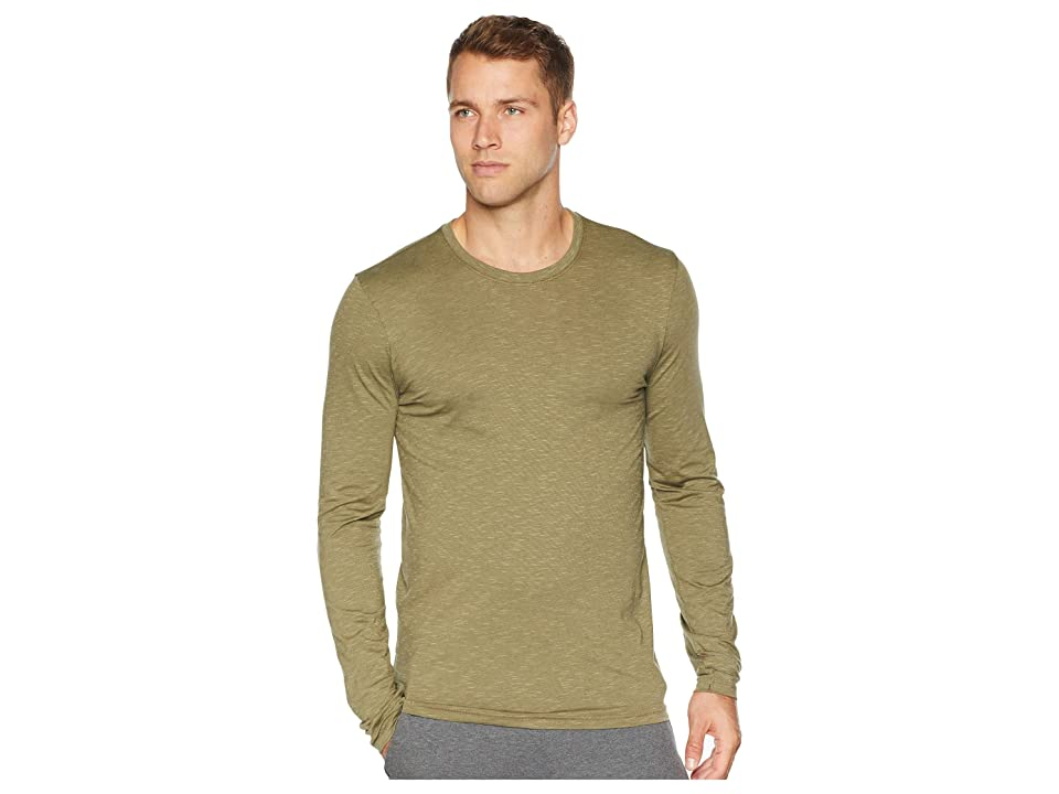Toad&Co Tempo Long Sleeve Tee (Rustic Olive) Men