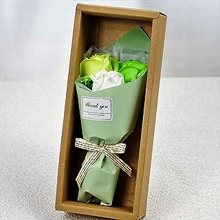 BIOフレグランスソープフラワー フェアリー3輪ローズBOX ギフトボックス お祝い 記念日 お見舞い ギフト (グリーン)
