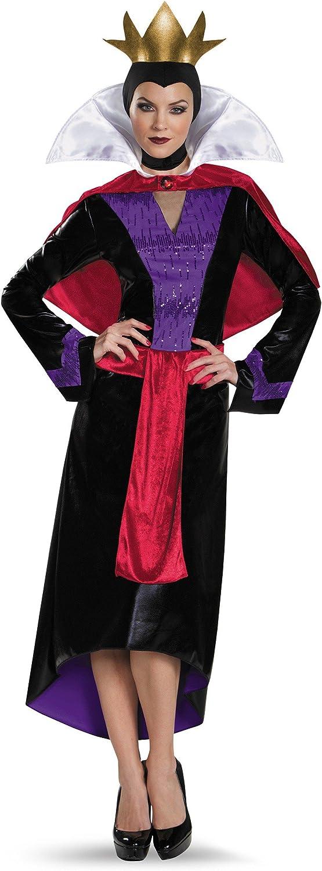 Ladies Fancy Dress Black Dark Royalty Queen Cape Halloween Evil Queen AC80716