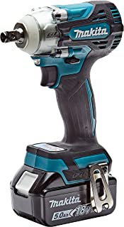 Makita DTW300RTJ 18V Li-ion LXT Brushless Impact Wrench Complete with 2 x 5.0 Ah Batteries and Charger Supplied in a Makpa...