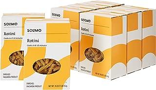 Amazon Brand - Solimo Pasta, Rotini, 16oz (Pack of 8)