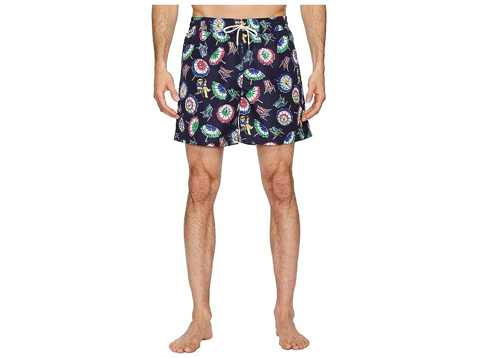 Polo Ralph Lauren Polyester Traveler Shorts (Beach Chairs and Umbrellas) Men
