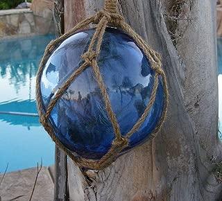 Japanese Glass Fishing Float Fish Net Buoy Tiki Decor