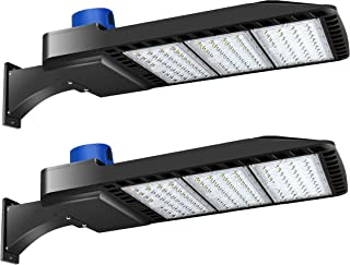 LED Parking Lot Lights 300W - LED Shoebox Parking Lot Lighting with Photocell 1000-1200W HID/HPS Replacement Waterproof IP65 36000LM 5000K Parking Lot LED Lighting (2 Pack)