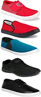 WORLD WEAR FOOTWEAR Sports Running Shoes/Casual/Sneakers/Loafers Shoes for MenMulticolors (Combo-(5)-1219-1221-1140-748-1012)