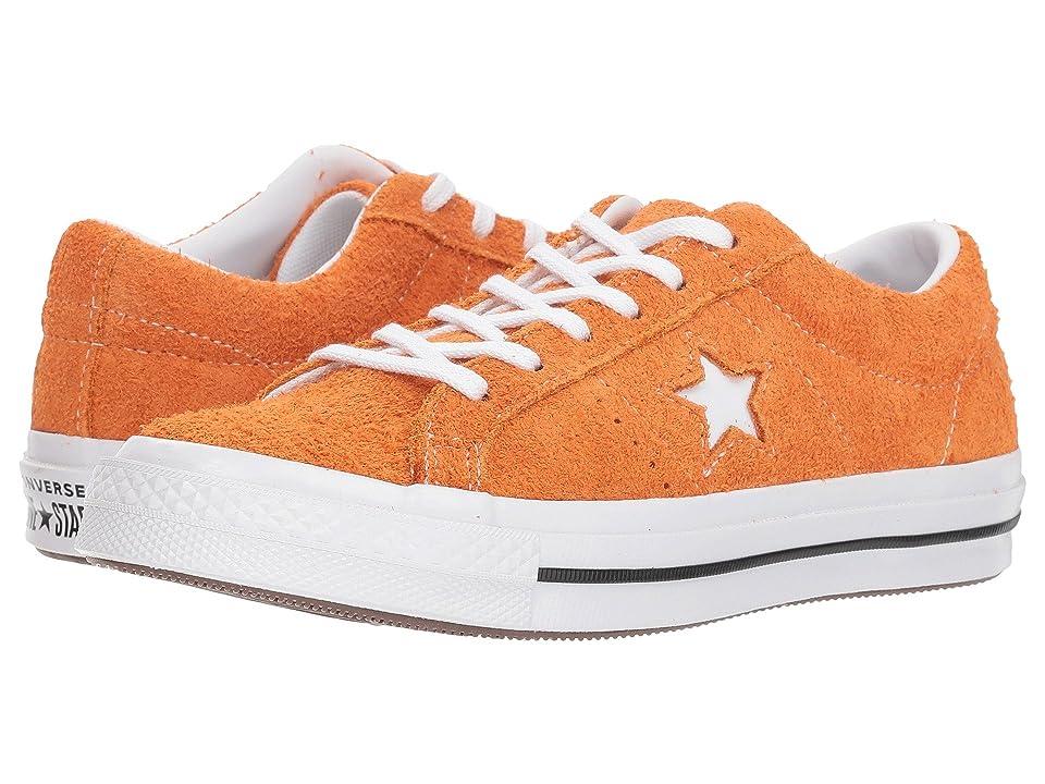 Converse Kids One Star Ox (Big Kid) (Bold Mandarin/Black/White) Boys Shoes