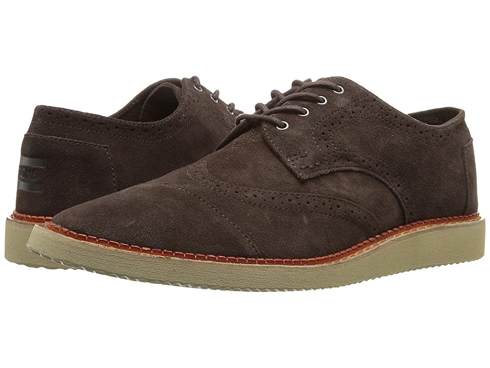 TOMS Brogue (Chocolate Brown Suede) Men