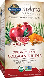 Garden of Life mykind Organic Plant Collagen Builder - Vegan Collagen Builder for Hair, Skin and Nail Health, 60 Tablets *...