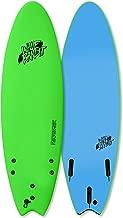 Wave Bandit Performer Tri Surfboard, Neon Green, 6'6