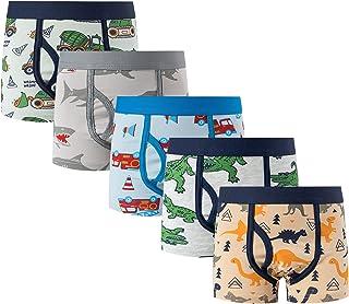 MIXIDON Calzoncillos bóxer de algodón para niños, Paquete de 5, 2-12 años 100 110 120 130 140cm