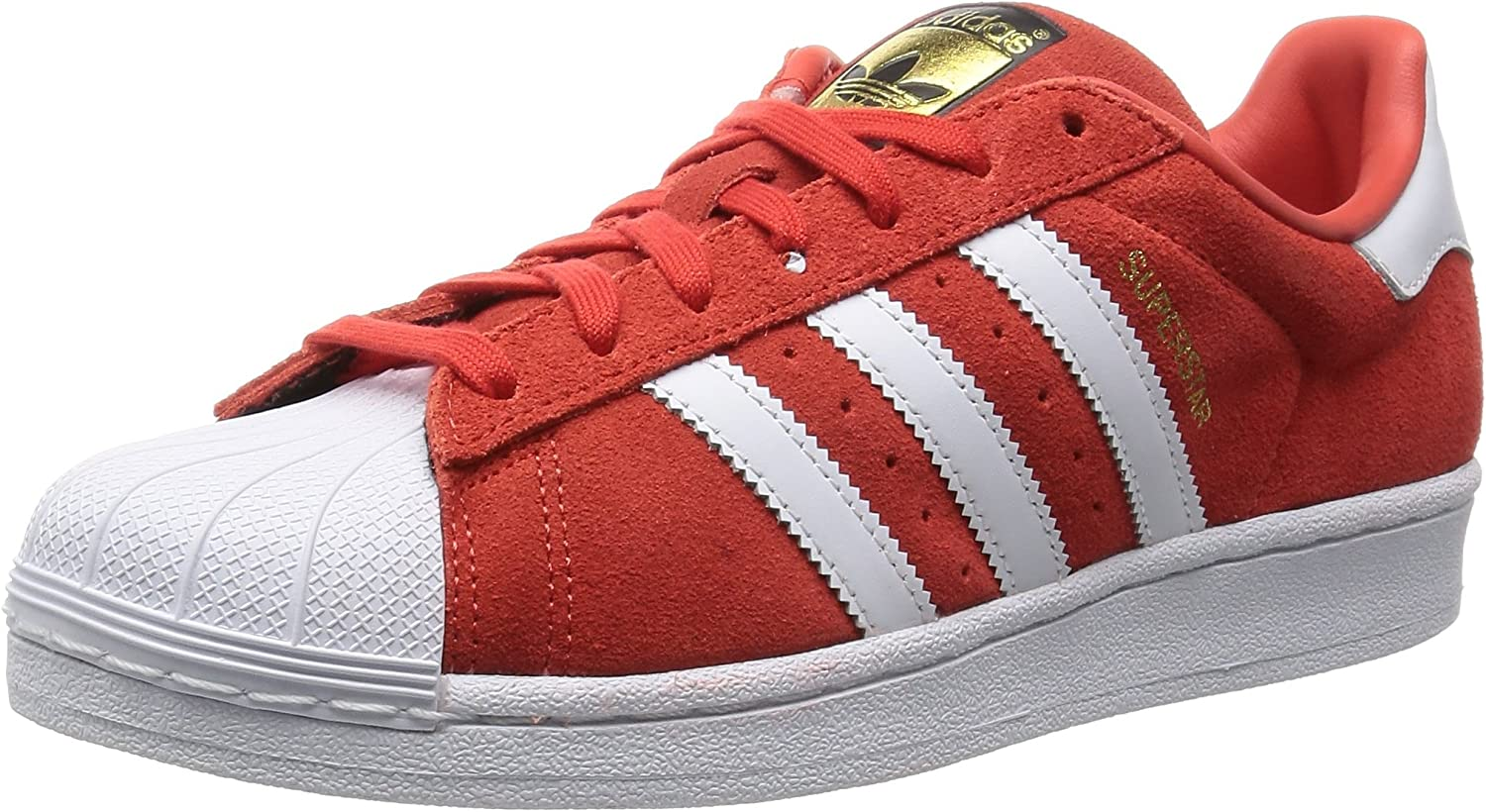 adidas Superstar Suede, Chaussures de Basketball homme, Rouge, 42 ...