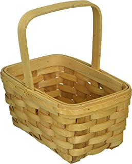 Darice 8.5 inch, Wood Country Basket with Fixed Handle