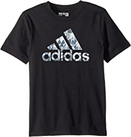 adidas Kids Short Sleeve Athletics Tee (Toddler/Little Kids)