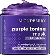 Purple Hair Mask for Blonde Hair - Made in USA - Platinum & Ash Blonde Toner - Brass Banisher with Purple Pigment - Kerati...