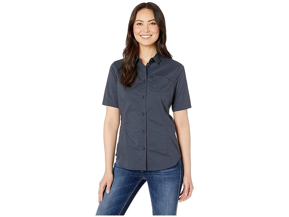 Fjallraven High Coast Stretch Short Sleeve Shirt (Navy) Women