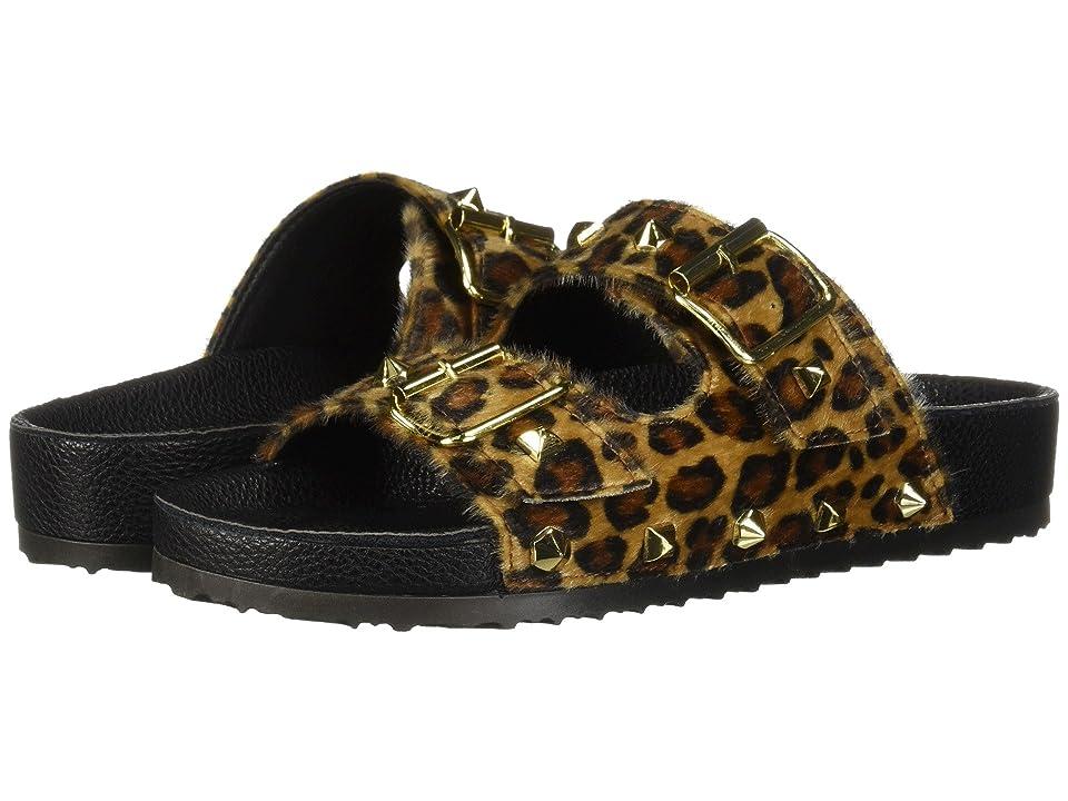 Dirty Laundry Quinn Slide Sandal (Tan Leopard Pon) Women
