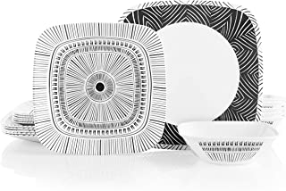 Corelle 18-Piece Service for 6, Chip Resistant Dinnerware Set, Imani