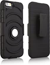 igooke iPhone 6s Plus/iPhone 6s Combo case, Hybrid Dual Layer Armor Defender Protective Case Cover + Belt Clip Holster for Apple iPhone 6s Plus/iPhone 6s [Black Ring Grip Cover] (iPhone 6s Plus)