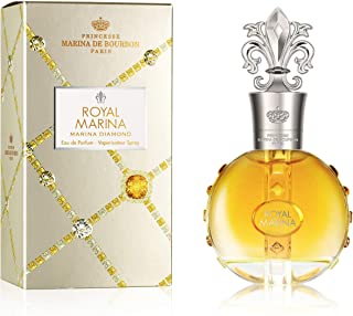 Royal Marina Diamond by Princesse Marina de Bourbon | Eau de Parfum Spray | Fragrance for Women | Fruity, Oriental, and Musky Scent with Notes of Vanilla and Tonka Bean | 100 mL / 3.4 fl oz