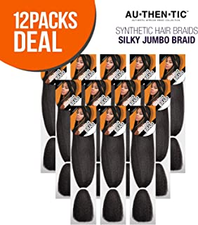 MULTI PACK DEALS! Authentic Synthetic Hair Braids Silky Jumbo Braid (12-PACK, PURPLE)