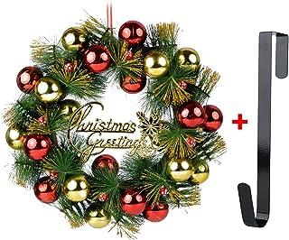 Funpa Couronne De Noel Porte, 16u0027u0027 Deco Noel Deco Sapin De Noel Guirlande