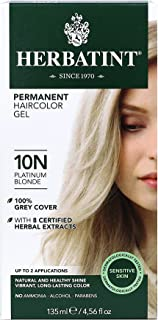 Herbatint Permanent Haircolor Gel, 10N Platinum Blonde, 4.56 Ounce