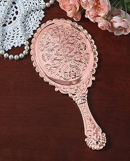 The Paragon Hand Held Mirror - Silver Tone Victorian Vanity Mirror (Copper)