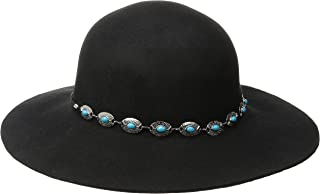 San Diego Hat Company Women's Round-Crown Floppy Hat with Silver-Tone Band
