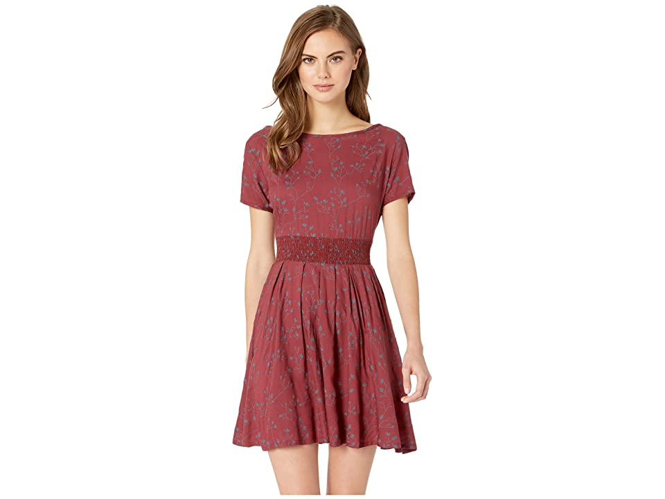Roxy Wayag Guide Dress (Oxblood Red/From the Wild) Women