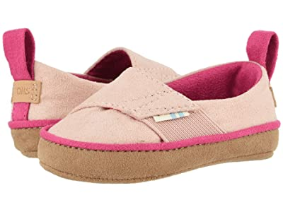 TOMS Kids Pinto (Infant/Toddler) (Pink Microsuede) Girl
