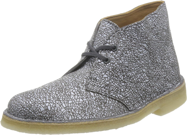 Clarks Desert Boot - Dark Grey White Multi (Suede) Womens Boots