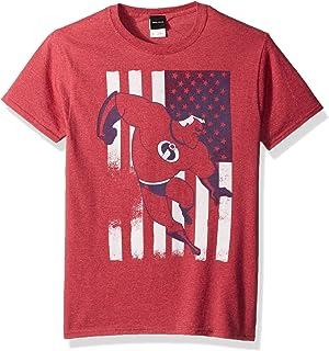 Disney mens Incredibles American Usa Flag Graphic Patriotic T-shirt Shirt