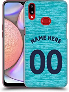 Custom Customized Personalized Newcastle United FC NUFC Third Kit 2018/19 Crest Hard Back Case Compatible for Samsung Galaxy A10s (2019)