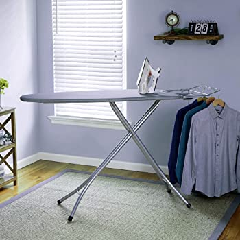 Keekos International Quality Ironing Board/Iron Table Stand with Press Holder, Foldable & Height Adjustable/Ironing Board with Multi-Function Ironing Table/Ironing Board Covers with Foam pad