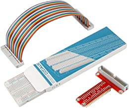 Smraza T Type GPIO Breakout Board for Raspberry Pi 3 2 Mode B/B with 40 Pin Cable and 830 Holes Breadboard