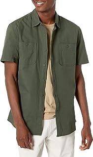 پیراهن آستین کوتاه مردانه آمازون اسنشیالز آستین کوتاه چمبری