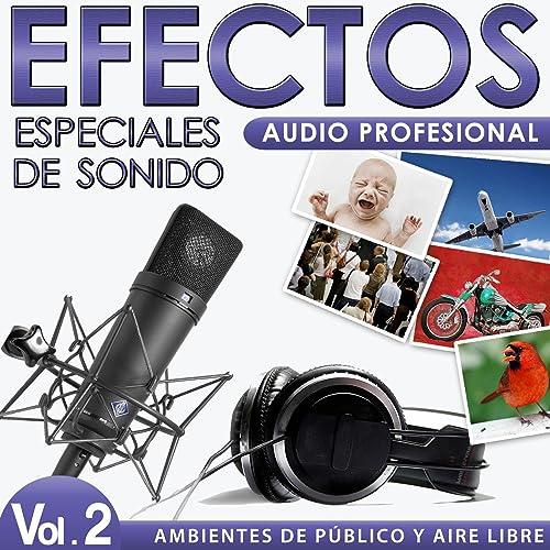 Ambientes de Público y Aire Libre. Efectos Especiales de Sonido. Audio Profesional. Vol