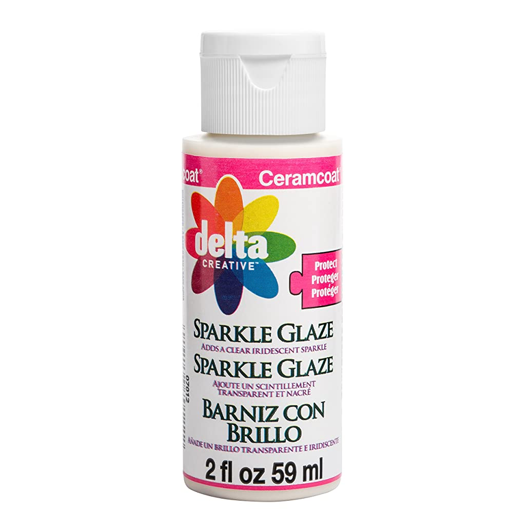 Delta Creative Ceramcoat Protecting Varnish (2-Ounce), 070120202W Sparkle Glaze