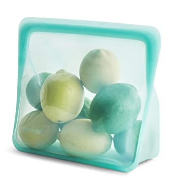 Stasher 100% Silicone Food Grade Reusable Storage Bag, Aqua (Stand-Up) | Plastic Free Lunch Bag | Cook, Store, Sous Vide, or Freeze | Leakproof, Dishwasher-Safe, Eco-friendly, Non-Toxic | 56 Oz