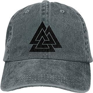 TENJONE Men Baseball Caps Trucker Hat Triple Triangle Logo Fashion Sports Fan Dad Cap for Unisex